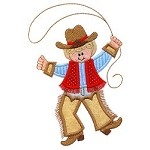 Dancing Cowboy Applique Design