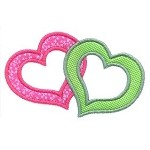 Intertwined Hearts Applique Design
