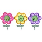 Daisy Faces Applique Design