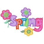 Spring Word Applique Design