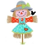 Scarecrow Girl Applique Design