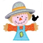 Scarecrow Pocket Topper Applique Design