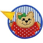 Kitty Pennant Applique Design