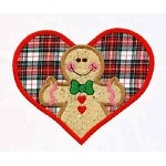 Ginger Heart Boy Applique Design