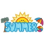 Summer Word Applique Design