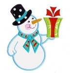 Snowman Gift Applique