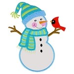 Snowy Friends Applique