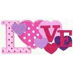 Love Collage Applique Design
