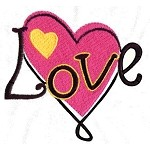 Love Swirl Embroidery Design