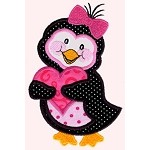 Pinky Penguin Applique
