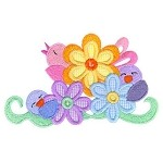 Little Songbird Applique Design