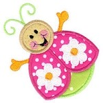 Little Ladybug Applique Design