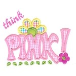 Think Pink Applique Design
