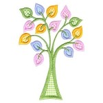 Beautiful Tree Applique Design