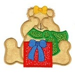 Peekaboo Teddy Applique Design