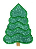 Evergreen Trees Applique Design