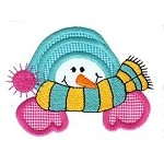 Snow Topper Applique Design