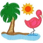 Flamingo Applique Design