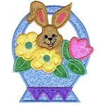 Bunny Basket Applique Design