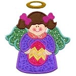 Easter Egg Angel Applique Design