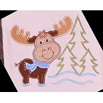 Moose Embroidery Applique Design