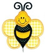 Bumblebee Applique Design
