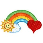 Rainbow Applique Design