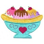 Banana Split Applique Design