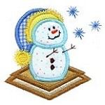 Smore Catching Snowflakes Applique Design