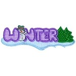 Winter Word Applique Design