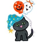 Spooky Kitty Applique Design