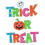 Trick Or Treat Applique Design