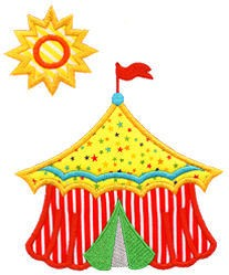 Circus Tent Applique Design