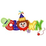 Clown Word Applique Design