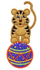 Circus Tiger Applique Design
