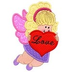 Valentine Angel Applique Design