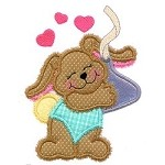 Bunny Chocolate Applique Design