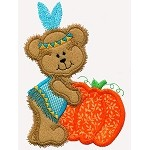 Indian Bear Applique Design