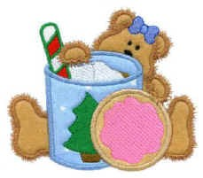 Beary Yummy Applique Design