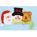 Christmas Friends Trio Applique Design