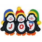 Penguin Trio Applique Design