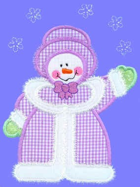 Flurry Snowgirl Applique Design
