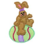 Bunny Ride Applique Design