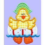 Duck Ahoy Applique Design~ 4 x 4 Hoop